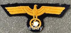 100% Original WW2 German Kriegsmarine Uniform-removed Breast Eagle