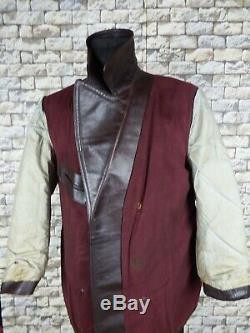 1930's German Horsehide Leather Jacket L Kriegsmarine WW2 Vintage Military Coat