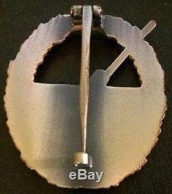 5123 German Kriegsmarine Coastal Artillery War Badge post WW2 1957 pattern