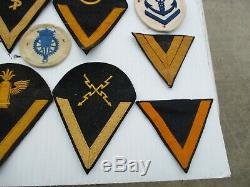 55 Black/Gold & White/Blue & Red Kriegsmarine WWII German Naval Patches Insignia