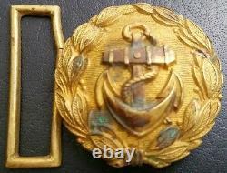 6800 German Navy Kriegsmarine officer parade belt buckle gold WW2 Dolchkoppel