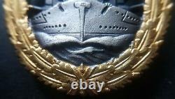 8262 German Navy Kriegsmarine High Seas Fleet War Badge post WW2 1957 pattern