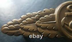 8638 German Kriegsmarine Naval Combat Clasp post WW2 1957 pattern maker ST&L