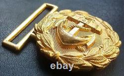 8963 German Navy Kriegsmarine officer parade belt buckle gold WW2 Dolchkoppel