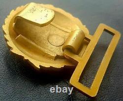 9683 German Navy Kriegsmarine officer parade belt buckle gold WW2 Dolchkoppel