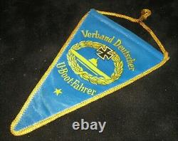 A World War-II German Navy (Kriegsmarine) U-Boot Crew Veteran's Pennant & Badge