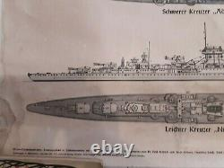 Affiche Kriegsmarine 1941 Die Deutsche Kriegsflotte Scharnhorst WW2 German Navy