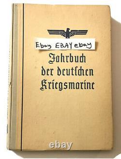 Book 1941 German navy Jahrbuch Deutschen Kriegsmarine WW2