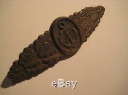 Close combat clasp of german navy WW II bronce rare award from Kriegsmarine