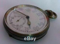 GERMAN WW 2 Kriegsmarine BISMARCK 1939 B. &. V. Hamburg Pocket watch