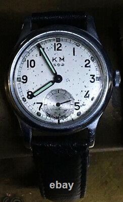 Genuine WWII German Kriegsmarine Alpina KM 592 Naval Military Wrist Watch