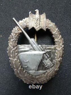 German Kriegsmarine WWII Coastal Artillery Badge
