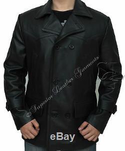 German Submariner WW2 Men's KRIEGSMARINE Cow Hide Leather Jacket BNWT