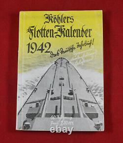 German WW2 Kriegsmarine Fleet Calendar 1942 Book Flotten Kalender Rare War Relic
