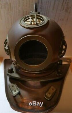 German WW2 Kriegsmarine U-boat Fritz-Julius Lemp brass diving helmet