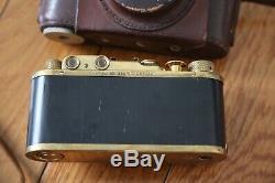 German WW2 Leica German Kriegsmarine Navy Camera Wetzlar With Case & Strap