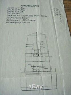 German WWII Secret Command Document Kriegsmarine Navy Ship Blueprints War Trophy
