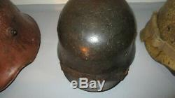 German World War 2 Kriegsmarine Helmet named and with chin strap