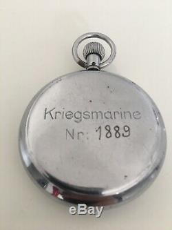 Kriegsmarine Hanhart 3 Steine WW2 German U Boat Stopwatch