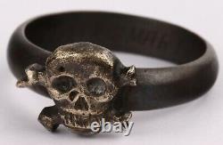 Kriegsmarine U-boat ww2 GERMAN Ring WWII Silver Skull Bones NAVY Marine SPECIAL