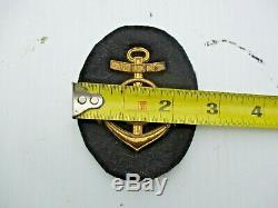 Lot of 10 Metal Kriegsmarine WWII ww2 German Navy Patches Insignia