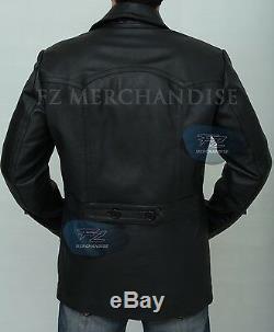 German Submariner WW2 Vintage Men/'s Cowhide Black Leather Jacket//Coat