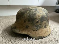Nazi Helmet M35 Kriegsmarine camo Helmet Dual logo ET66 WW2 German