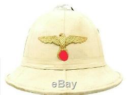 Original German WWII Kriegsmarine Italian Sun Helmet Dated 1941Named
