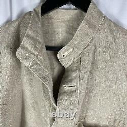 Original WWII German Kriegsmarine Navy Linen Pullover Tackle Shirt