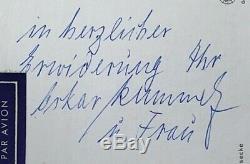 Original Ww2 German Kriegsmarine Admiral Oskar Kummetz Autographed Postcard