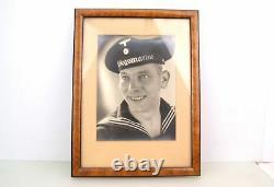 Portrait Photo Of Ww2 German Kriegsmarine Soldier In Frame