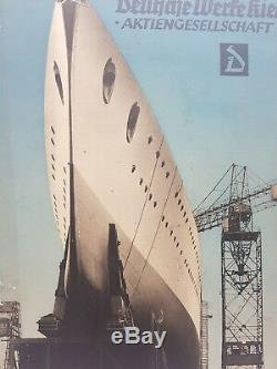 Pre WW2 German Kriegsmarine Panzerschiff Deutschland Cruiser Plaque Third Reich