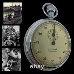RARE! Mint German WWII Kriegsmarine U-boat Torpedo Timer Stop Watch by Hanhart