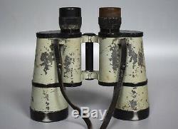 RARE Vintage WWII German 7x50 Binoculars BEH Leitz Dienstglas Kriegsmarine Grey