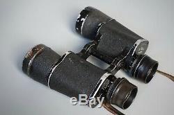 RARE Vintage WWII German 7x50 Carl Zeiss Kriegsmarine Binoculars Scheinw u Fluwa