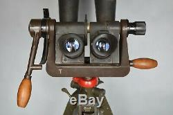 RARE WWII German 10x80 Kriegsmarine Naval Binoculars WW2 EUG Zeiss BLC + Tripod