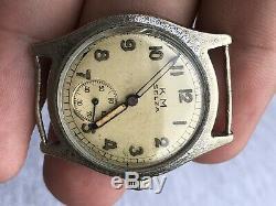 Rare German Kriegsmarine Selza Ww2 Watch Needs Repair Nice Watch