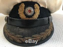 Rare German Ww2 Kriegsmarine Officer's Visor Cap, Veteran Bring Back