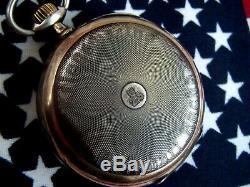 Rare German Ww2 U-boat U-255 8. Flotilla Kriegsmarine Silver Pocket Watch /works