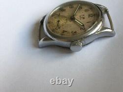 Ultra Super Rare Alpina Military German Watch Kriegsmarine Km 592 Ww2