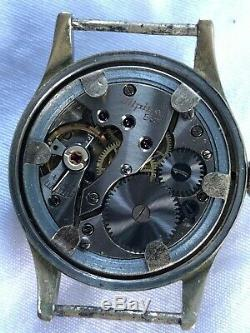 Vintage Alpina K. M. 586 Kriegsmarine German Military Ww2 Watch