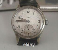 Vintage Kriegsmarine Alpina KM 592 German WW2 Issued Military Watch Dienstuhr