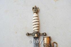 Vintage WW2 German Naval Kriegsmarine Lightning Bolt Scabbard Knife Dagger