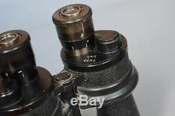 Vintage WWII German 7x50 Kriegsmarine U-Boat Binoculars BEH Leitz