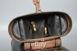 Vintage WWII German 7x50 Kriegsmarine U-Boat Binoculars Leitz BEH + Case 1941