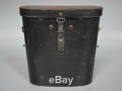 Vintage WWII German Zeiss BLC 7x50 Kriegsmarine Gasmask U Boat Binoculars Set