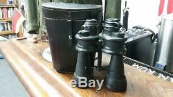 WW II 1944 German U-Boat Kriegsmarine Naval Binoculars beh Leitz 7x50 Armored
