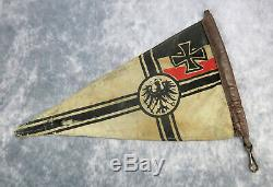 WW1 German Kriegsmarine Imperial flag banner WWII sailor Navy UBOAT ship pennant