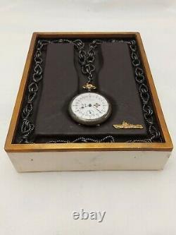 WW1 WW2 German Military U-boat Kriegsmarine Admiral 24 Hour Pocket Watch