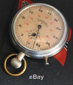 WW2 GERMAN U-BOAT UJ-Boat Torpedo Timer STOPWATCH HANHART KRIEGSMARINE Nr. 635